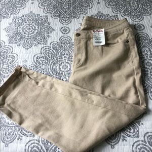 New Michael Kors, cropped skinny, 6, tan